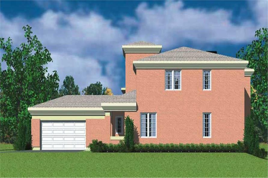 Home Plan Right Elevation of this 4-Bedroom,2277 Sq Ft Plan -137-1701