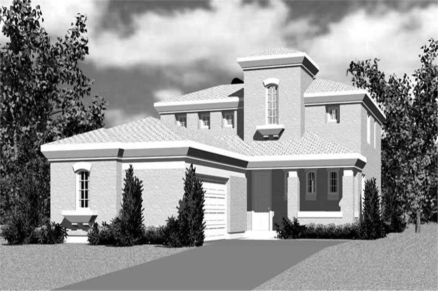 Home Plan Front Elevation of this 4-Bedroom,2277 Sq Ft Plan -137-1701