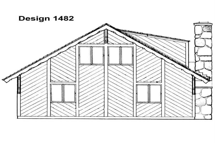 Home Plan Rear Elevation of this 5-Bedroom,1645 Sq Ft Plan -137-1702