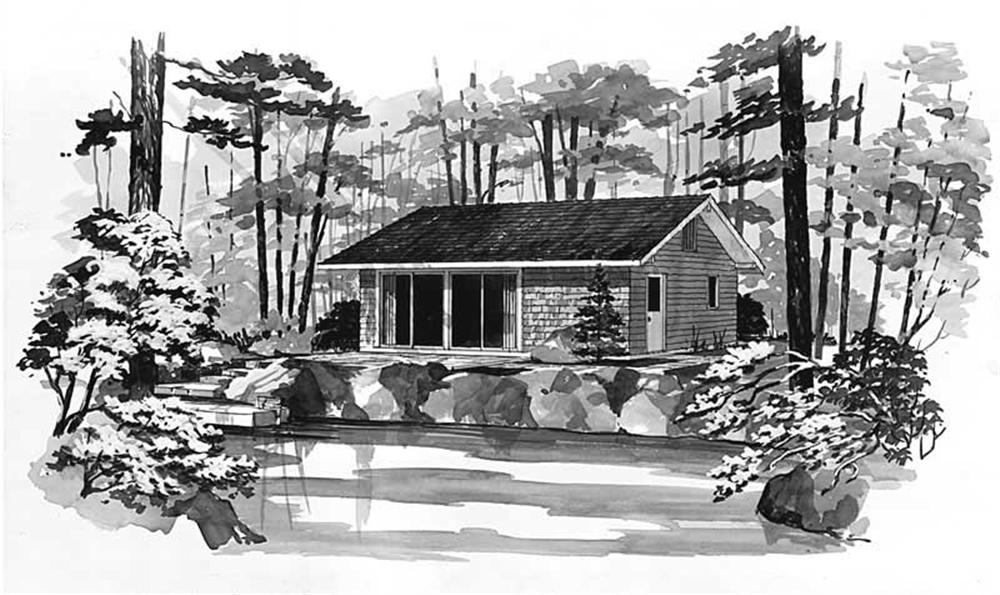 Front elevation of Country home (ThePlanCollection: House Plan #137-1703)