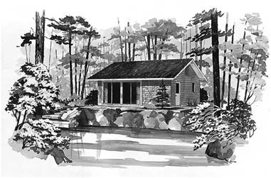 2-Bedroom, 480 Sq Ft Country Home Plan - 137-1703 - Main Exterior