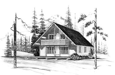 3-Bedroom, 1348 Sq Ft Contemporary Home Plan - 137-1707 - Main Exterior
