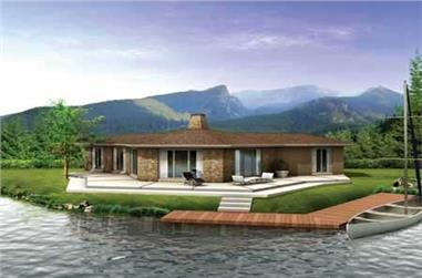 3-Bedroom, 1400 Sq Ft Contemporary Home Plan - 137-1708 - Main Exterior