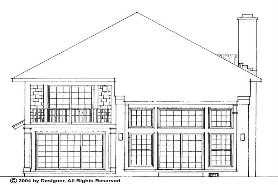 Home Plan Rear Elevation of this 4-Bedroom,2316 Sq Ft Plan -137-1709