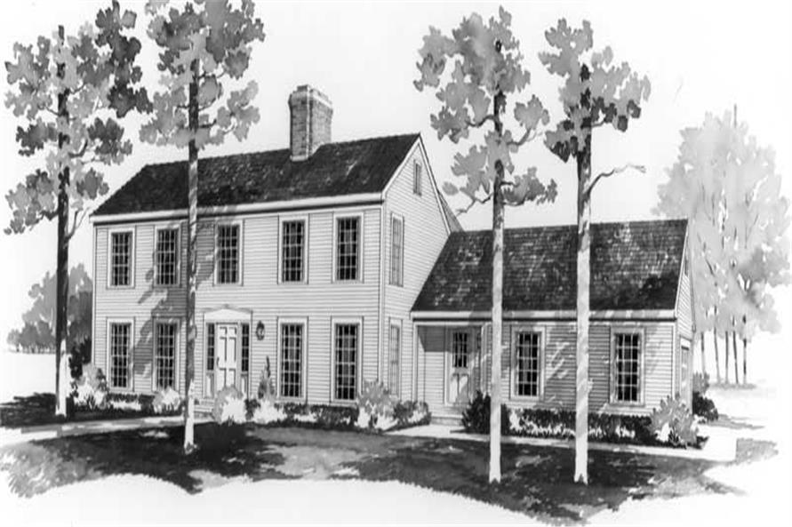 4-Bedroom, 2598 Sq Ft Colonial House Plan - 137-1711 - Front Exterior