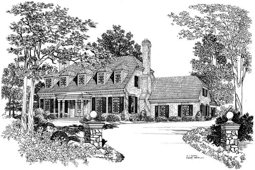 Main image for house plan # 17615