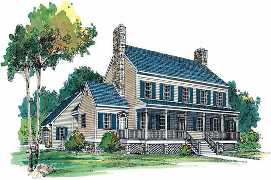 3-Bedroom, 3412 Sq Ft Farmhouse House Plan - 137-1722 - Front Exterior