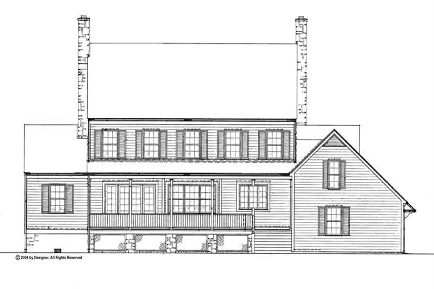 Home Plan Rear Elevation of this 3-Bedroom,3412 Sq Ft Plan -137-1722