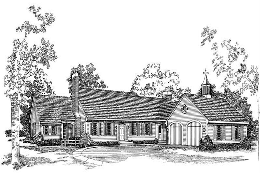 4-Bedroom, 3115 Sq Ft Cape Cod House Plan - 137-1725 - Front Exterior