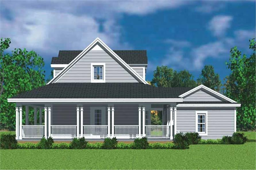 Home Plan Left Elevation of this 3-Bedroom,1673 Sq Ft Plan -137-1726