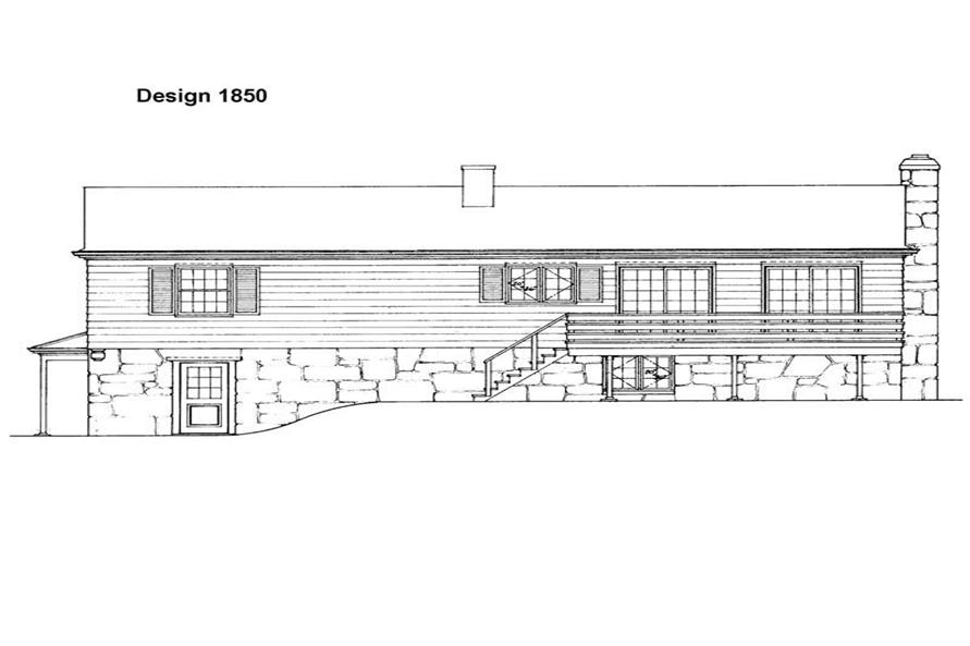Home Plan Rear Elevation of this 4-Bedroom,2140 Sq Ft Plan -137-1728