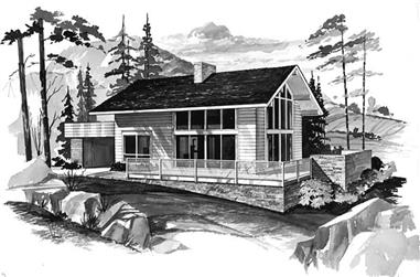 4-Bedroom, 1427 Sq Ft Contemporary Home Plan - 137-1729 - Main Exterior