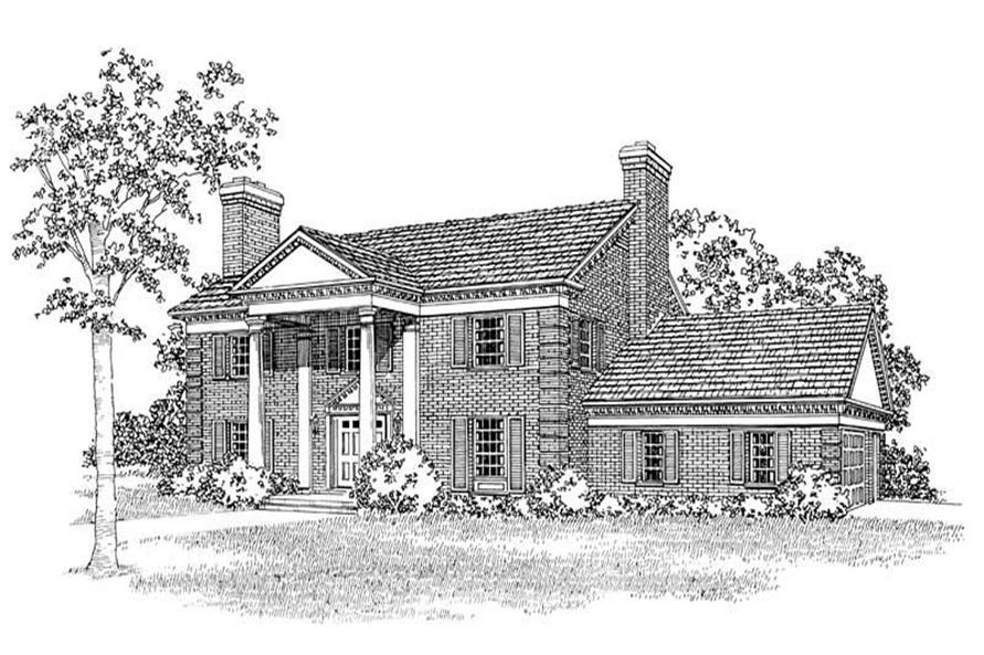 4-Bedroom, 2963 Sq Ft Colonial Home Plan - 137-1731 - Main Exterior