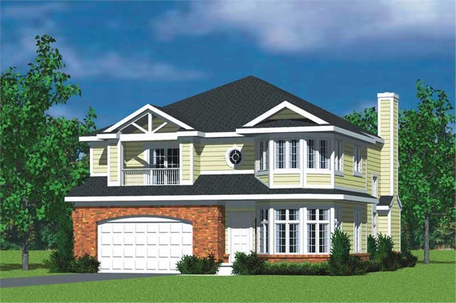 4-Bedroom, 3047 Sq Ft Home Plan - 137-1733 - Main Exterior