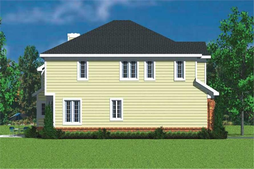 Home Plan Left Elevation of this 4-Bedroom,3047 Sq Ft Plan -137-1733