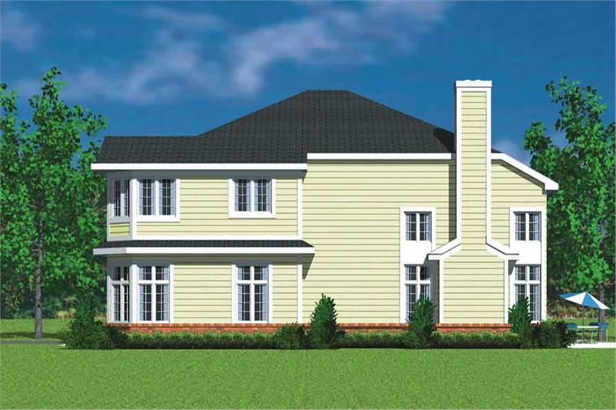 Home Plan Right Elevation of this 4-Bedroom,3047 Sq Ft Plan -137-1733