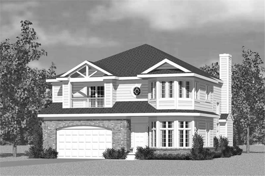 Home Plan Front Elevation of this 4-Bedroom,3047 Sq Ft Plan -137-1733