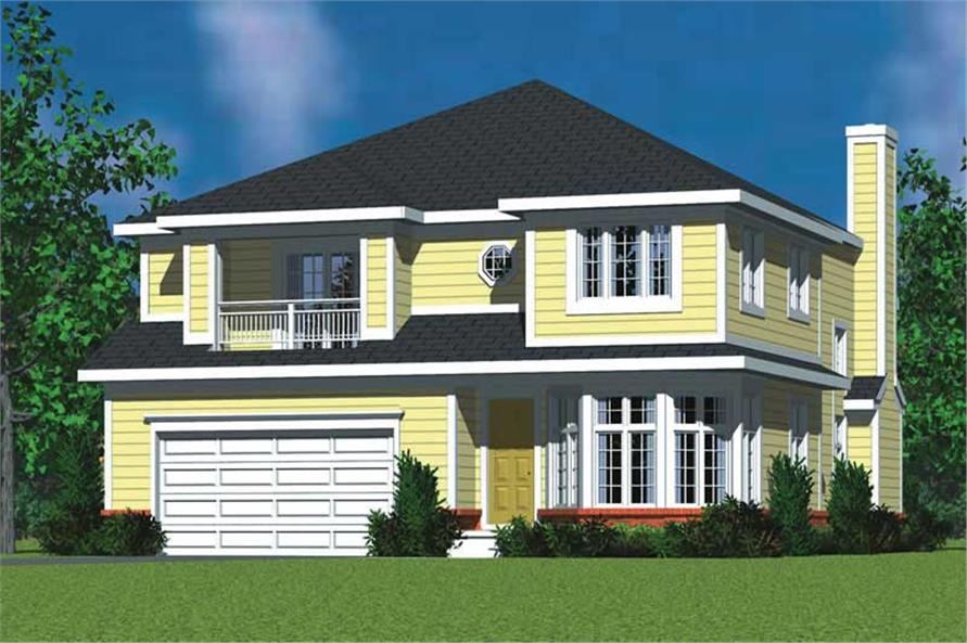 4-Bedroom, 3059 Sq Ft Country Home Plan - 137-1734 - Main Exterior