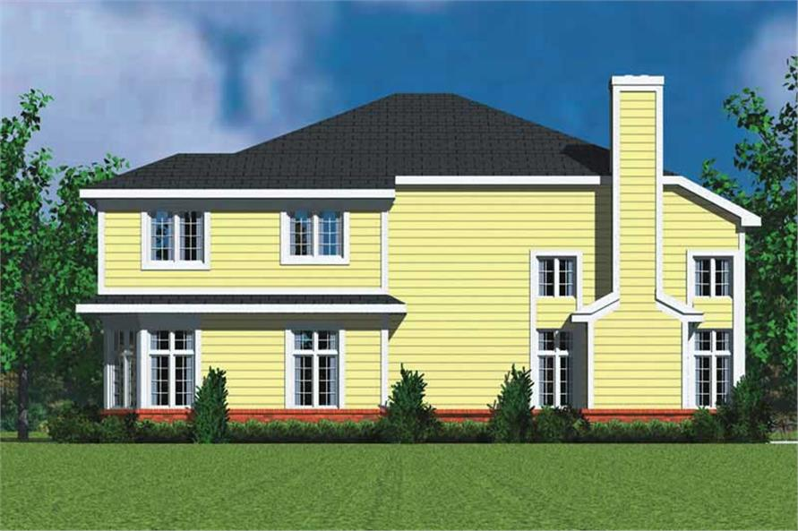 Home Plan Right Elevation of this 4-Bedroom,3059 Sq Ft Plan -137-1734