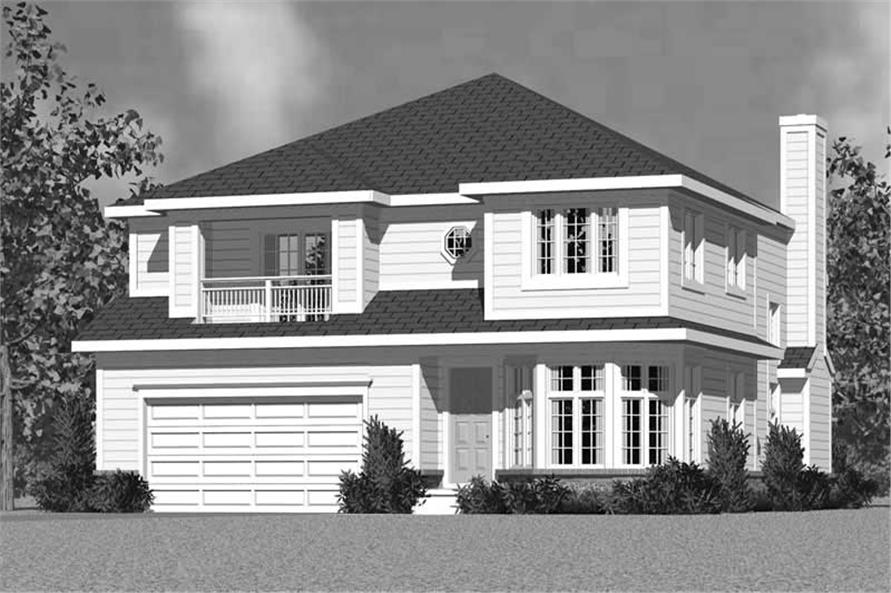 Home Plan Front Elevation of this 4-Bedroom,3059 Sq Ft Plan -137-1734