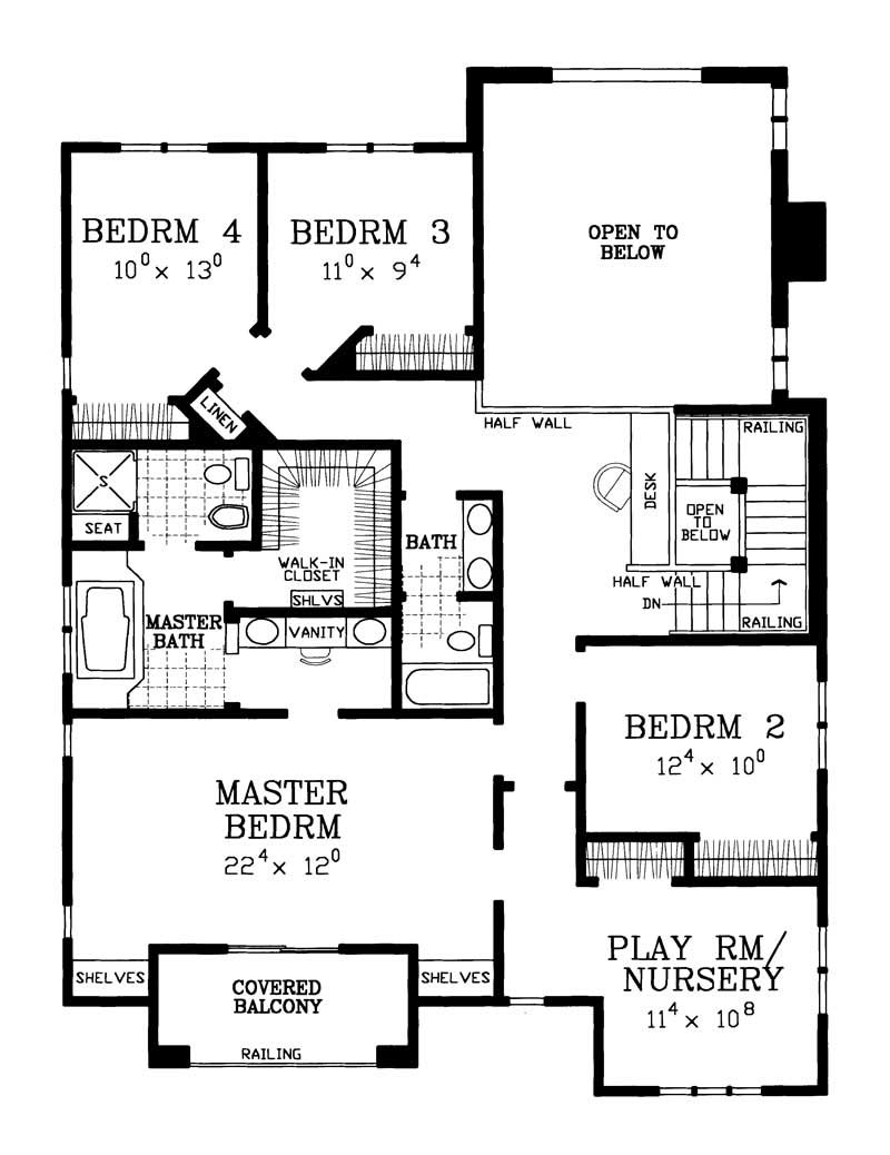country home plan 4 bedrms 2 5 baths 3059 sq ft 137 1734. Black Bedroom Furniture Sets. Home Design Ideas