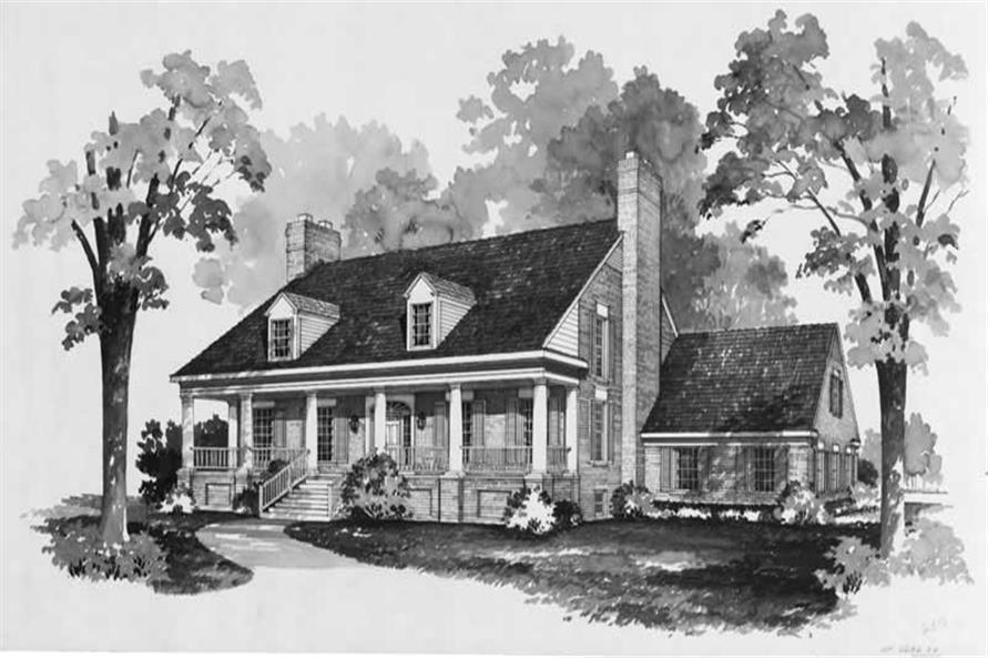 3-Bedroom, 3224 Sq Ft Home Plan - 137-1737 - Main Exterior