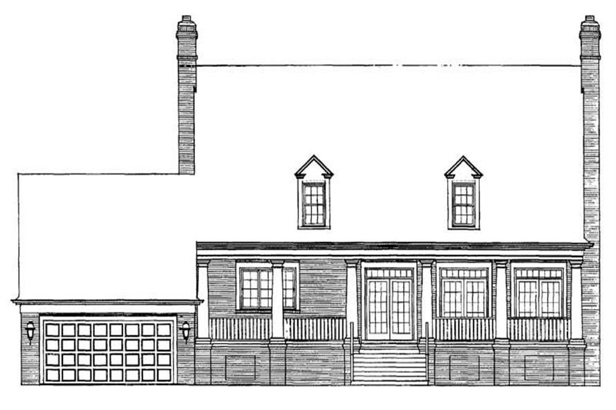 Home Plan Rear Elevation of this 3-Bedroom,3224 Sq Ft Plan -137-1737