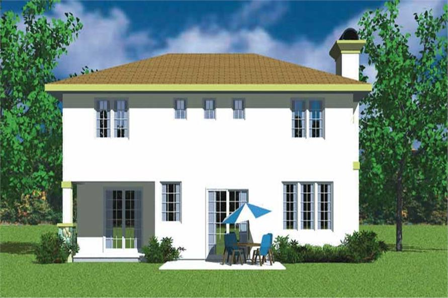 Home Plan Rear Elevation of this 3-Bedroom,2301 Sq Ft Plan -137-1738