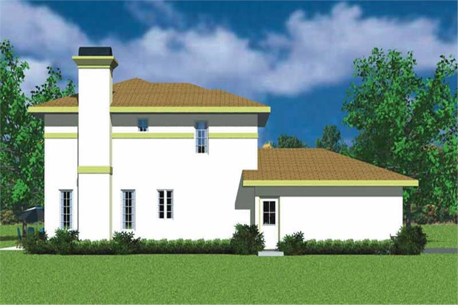 Home Plan Left Elevation of this 3-Bedroom,2301 Sq Ft Plan -137-1738