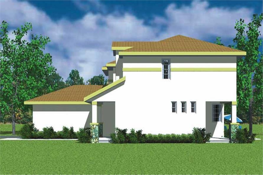 Home Plan Right Elevation of this 3-Bedroom,2301 Sq Ft Plan -137-1738