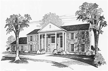 4-Bedroom, 3556 Sq Ft Historic House Plan - 137-1740 - Front Exterior