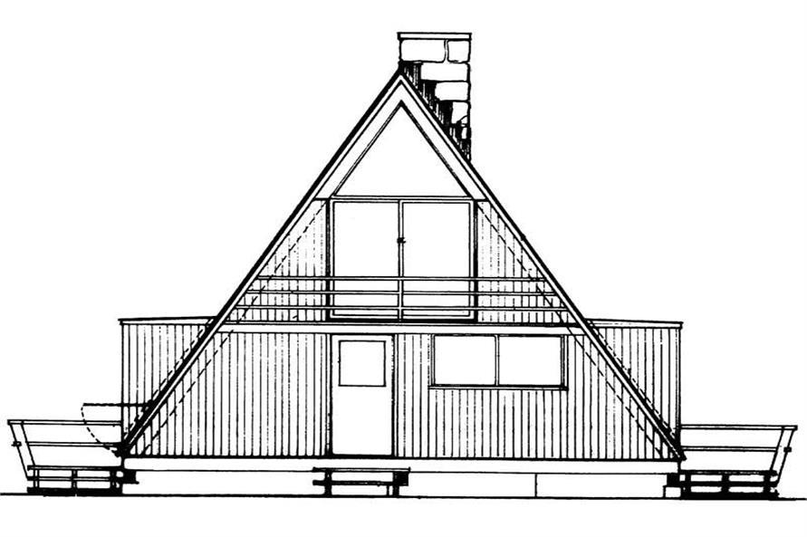 Small, Contemporary, A Frame House Plans - Home Design HW ...