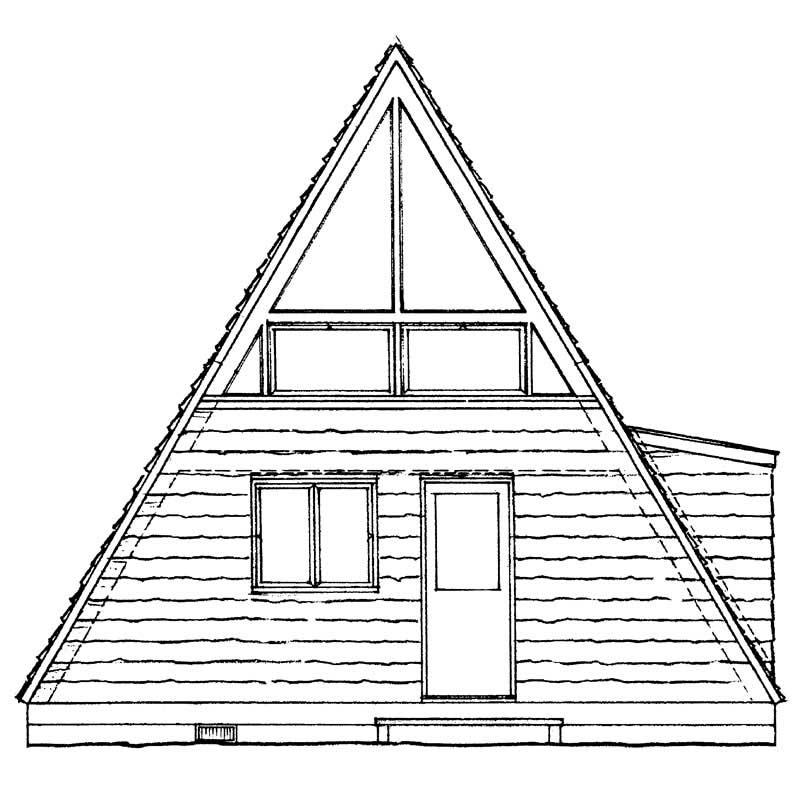 A Frame Home Plan 1 Bedrms 1 Baths 810 Sq Ft 137 1744