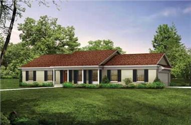 3-Bedroom, 1536 Sq Ft Ranch Home Plan - 137-1746 - Main Exterior