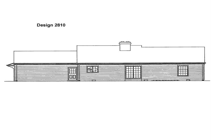 House Plan HW-2810 Rear Elevation