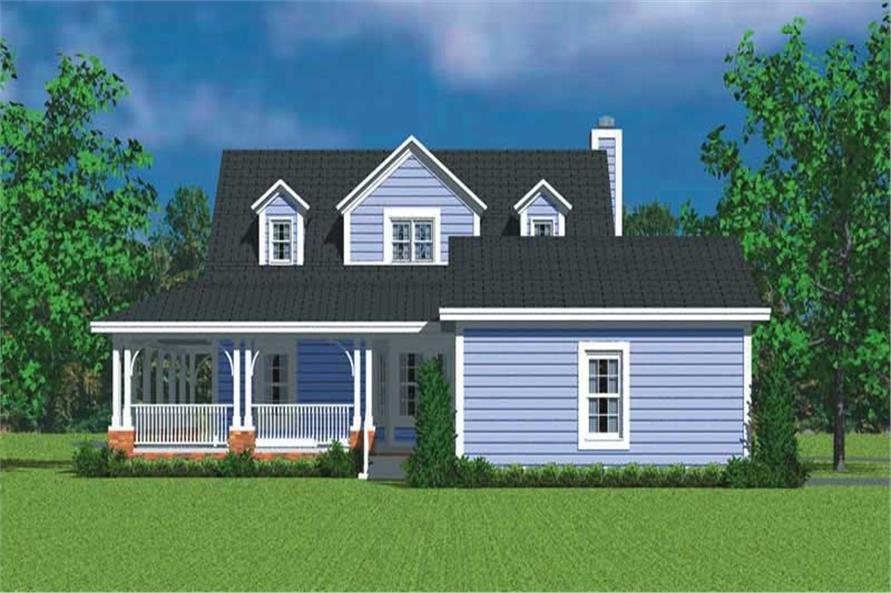 Home Plan Rear Elevation of this 3-Bedroom,1673 Sq Ft Plan -137-1747