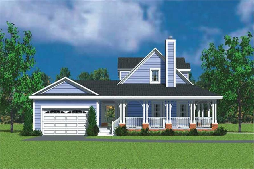 Home Plan Left Elevation of this 3-Bedroom,1673 Sq Ft Plan -137-1747