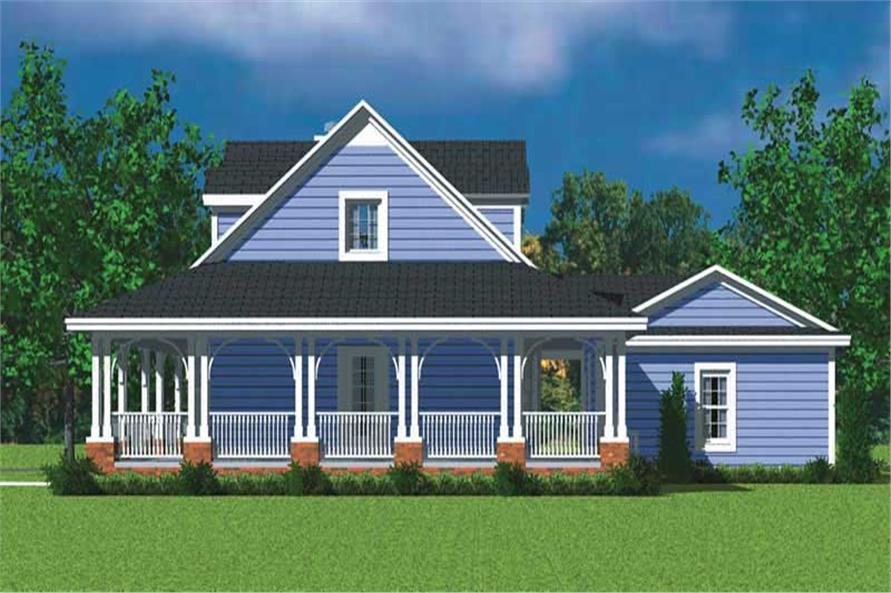 Home Plan Right Elevation of this 3-Bedroom,1673 Sq Ft Plan -137-1747