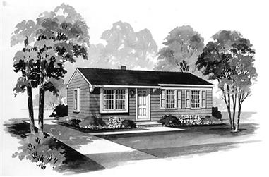 2-Bedroom, 880 Sq Ft Ranch Home Plan - 137-1748 - Main Exterior