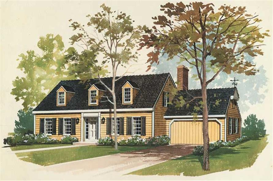 4-Bedroom, 2032 Sq Ft Colonial House Plan - 137-1751 - Front Exterior