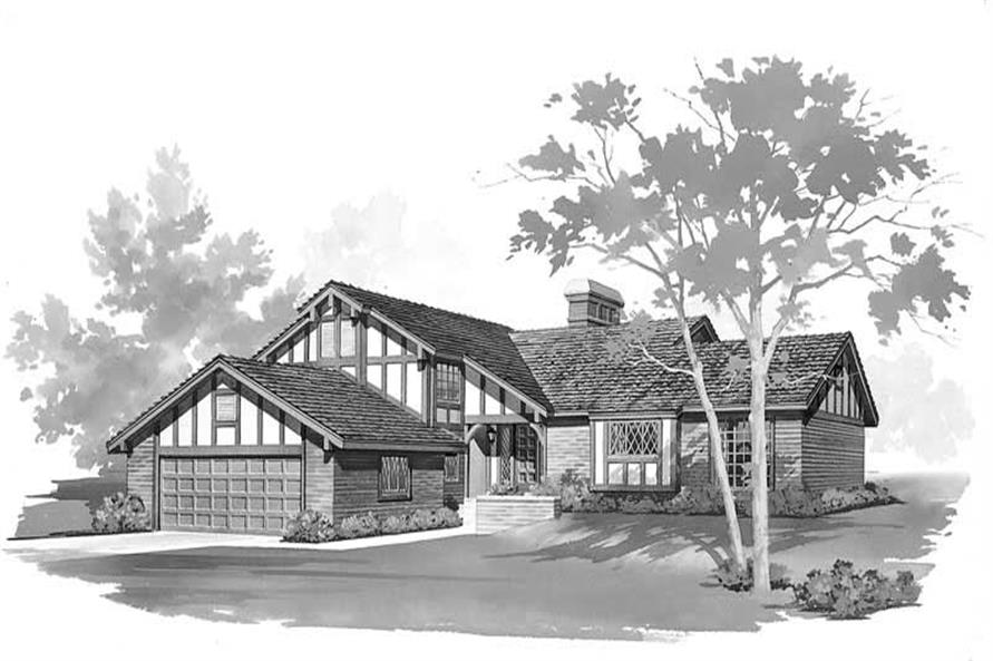 4-Bedroom, 2705 Sq Ft European Home Plan - 137-1753 - Main Exterior