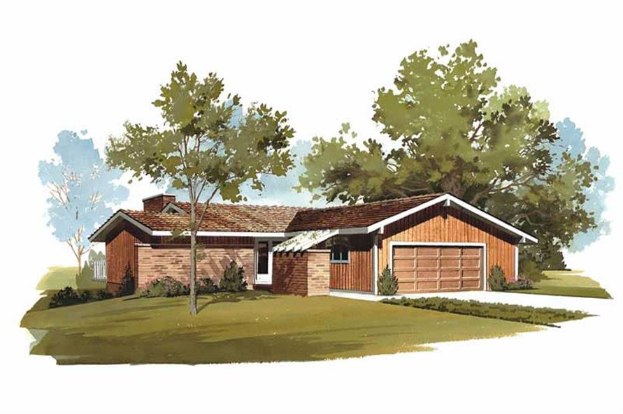3-Bedroom, 1242 Sq Ft Contemporary Home Plan - 137-1754 - Main Exterior