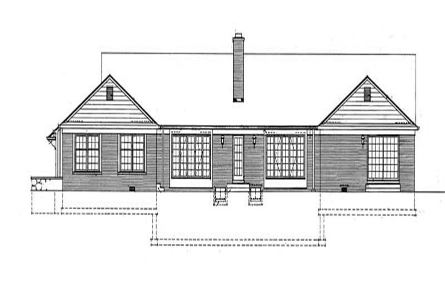 Home Plan Rear Elevation of this 5-Bedroom,3436 Sq Ft Plan -137-1756