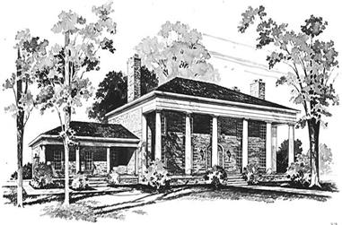 4-Bedroom, 4179 Sq Ft Historic Home Plan - 137-1757 - Main Exterior