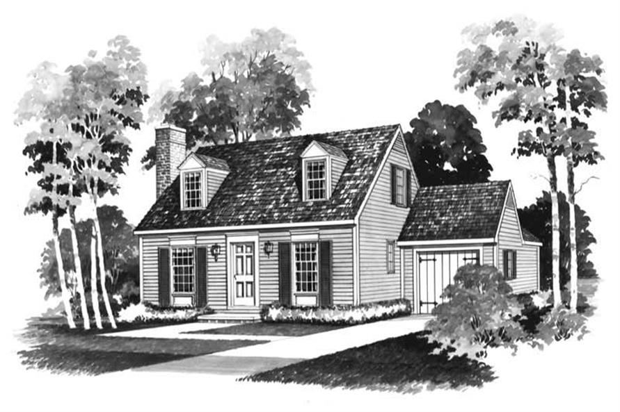 Small colonial cape cod house plans home design hw for Simple cape cod floor plans