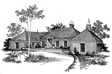 3-Bedroom, 3577 Sq Ft European Home Plan - 137-1762 - Main Exterior