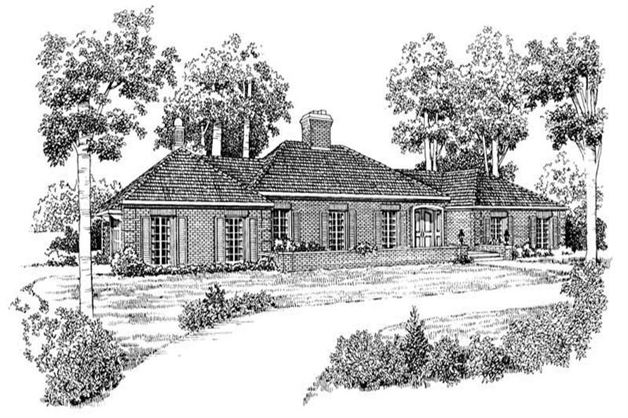 4-Bedroom, 2646 Sq Ft Ranch Home Plan - 137-1763 - Main Exterior