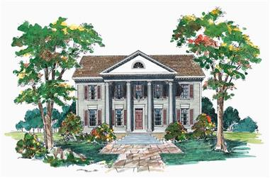 4-Bedroom, 2460 Sq Ft European House Plan - 137-1765 - Front Exterior