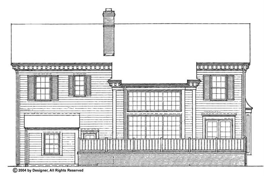 Home Plan Rear Elevation of this 4-Bedroom,2460 Sq Ft Plan -137-1765