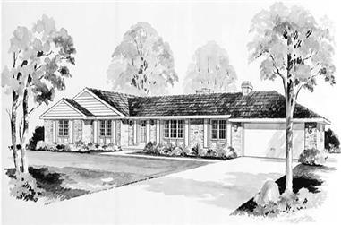 4-Bedroom, 2000 Sq Ft Ranch Home Plan - 137-1766 - Main Exterior
